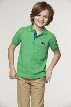 #Lacoste Boy's Short Sleeve Pique #Polo with Terry #Croc