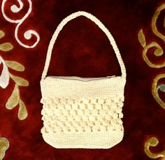 Crocheted Cream Colored 1950s Purse by CelinesAttic on Etsy, $28.00