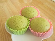 Make it with Rice Flour!  Soft and Bouncy Matcha Steam Buns
