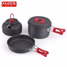 Non-Stick Ultralight Aluminum Outdoor Cookware Camping Set Pot Pan Kettle