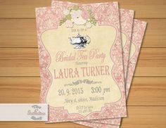 Bridal Shower Tea Party Invitation / by MyPrintableInvite on Etsy