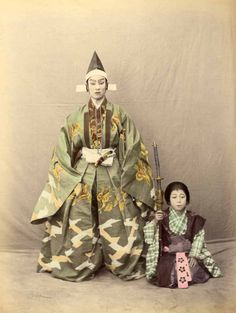 dressrehearsalrag: Noh actors, Japan, ca. 1880