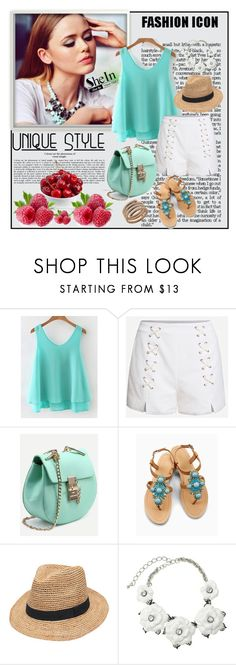 """""""Shein 7/IV"""" by merima-p ❤ liked on Polyvore featuring OLIVIA MILLER, Gottex, Kenneth Jay Lane and Roberto Coin"""