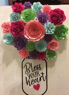 Rolled Paper Flowers, Giant Paper Flowers, Diy Flowers, Fabric Flowers, Quilling Paper Craft, Paper Crafts, Diy Crafts, Flower Shadow Box, Flower Letters