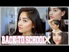 Back to School Makeup Tutorial for Middle School AND High School ♡ xlivelaughbeautyx - YouTube