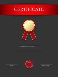 13 best certificate images on Pinterest in 2018   Clip art     Red and Black Certificate Template PNG Image