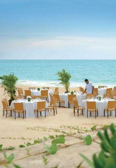 A beach reception at Fairmont Mayakoba in Riviera Maya, Mexico
