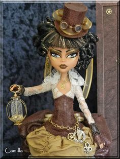 Camilla- Custom OOAK Steampunk time traveler by KrisKreations.deviantart.com