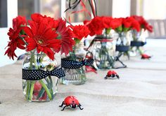 Table decorations-ladybug#Repin By:Pinterest++ for iPad#                                                                                                                                                                                 Más