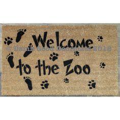 Welcome to the Zoo- front door novelty doormat door mat via Etsy Small Space Interior Design, Interior Design Living Room, Kitchen Interior, Funny Doormats, Baby Steps, Making Memories, Animals For Kids, My Dream Home, Door Mats