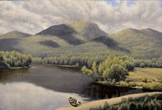 """""""In the Oxbow"""" original oil by Lewis Bryden   R. Michelson Galleries"""