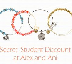 Student discount at Alex and AnI!