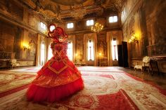 Lady in Red : Venice, Italy : Ken Koskela Photography