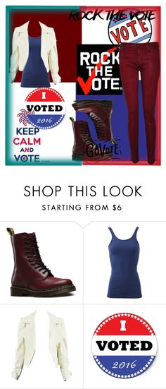 """""""Rock The Vote: Red White and Blue"""" by crazywriterfangirl90000 ❤ liked on Polyvore featuring Dr. Martens, Frame Denim, Hudson, redwhiteandblue, contestentry, polyvorecontest and rockthevote"""