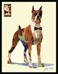The Boxer ~ Art Collage