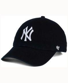 f1a0072b5ab  47 Brand New York Yankees Black White Clean Up Cap - Black Adjustable