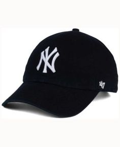 113183e90311c  47 Brand New York Yankees Black White Clean Up Cap - Black Adjustable