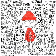 Winter doodle, no pencil used!! #illustration #sketch #lettering #paperfuel