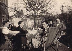 Irina and Felix Yusupov with their Relatives, Princes Fedor, Nikita, and Dmitriy Alexandorovich. 1925 - 1930s.