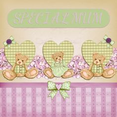 Mothers Day card Idea, a project by Algera Using the Gorgeous Bingham Bears by Hearts Designs from Daisytrail x *Could be for Special Birthdays, Friends etc