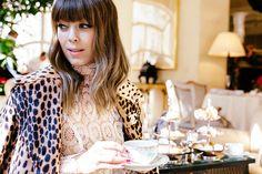 Margo and Me, blogger style, animal print jacket, lace, feminine outfit