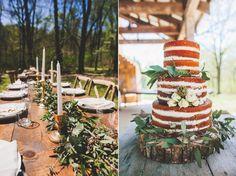 tealephotography.net  Nashville outdoor wedding  lace sleeves wedding dress forest wedding farm table reception
