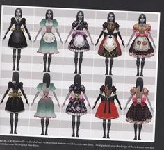 Alice the Madness Returns - Dollhouse Dress (far right)