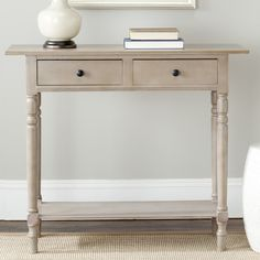Even small spaces deserve big style, and the convenient size of the Safavieh Rosemary Console Table is the perfect way to provide it. Crafted of. Antique Console Table, Console Cabinet, Wooden Console, Wood Dust, Sofa Tables, Sofa Furniture, Storage Cabinets, Solid Wood, Solid Pine