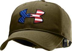 Under Armour Men's Big Flag Logo Adjustable Cap-390Marine OD Green-Style# 1219732    Price: $18.99