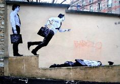 Street art in Paris, France.