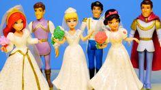 Disney Princess Fairytale Wedding Barbie Doll Gift Set Ariel ...