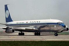 Sabena Boeing 707-329C OO-SJN, moments after rolling out at Brussels-Zaventem, April 1980. (Photo: Serge Van Heertum)