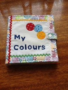 My Colours Cloth Quiet Book pattern $7.00 on Craftsy at http://www.craftsy.com/pattern/quilting/other/my-colours-cloth-book-quiet-book/67868