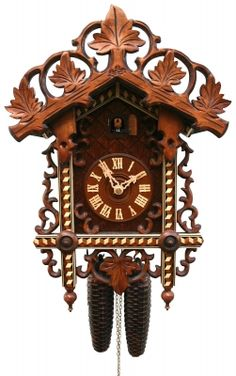 P8008 Michelle Allen Design Clock Allen Design Studio Pendulum Clock Horloge Maison Oiseau//Bird And Flowers For Your Room