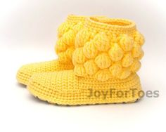 #Crochet #Women #Boots #Handmade #Slippers for the #Home by #JoyForToes