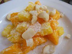 Raw Vegan Pineapple Papaya Salad With Macadamia Nuts And Coconut - A ...