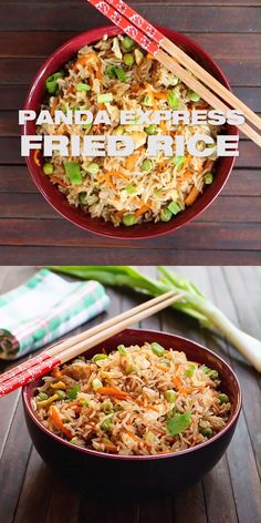 Panda Express Fried Rice Recipe Copycat panda express meal You can prepare this Asian chinese meal favorite at home and adjust the basic ingredients to your liking budge. Healthy Dinner Recipes, Vegetarian Recipes, Cooking Recipes, Budget Recipes, Easy Home Recipes, Budget Dinners, Panda Express Fried Rice, Fried Rice Recipe Video, Fried Rice Recipes