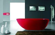 $2,874.99 | Dazio II Luxury Modern Bathtub 73″, Red, Futuristic Bathroom, Future Home | FuturisticSHOP.com