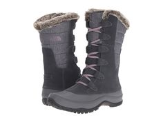 THE NORTH FACE THE NORTH FACE - NUPTSE PURNA (IRON GATE GREY/QUAIL GREY) WOMEN'S COLD WEATHER BOOTS. #thenorthface #shoes #