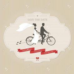 Wedding Invitation Template Free Vintage Bicycle Tandem