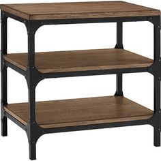 Shop Crosley Furniture Trenton x x Rustic Coffee Wood End Table at Lowe's Canada online store. Find End Tables at lowest price guarantee. Wood End Tables, End Tables With Storage, Living Room Decor Furniture, Home Furniture, Console Table, Dining Bench, Porch Table, Beautiful Living Rooms, Lowes Home Improvements