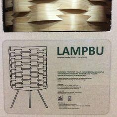 Bamboo Lampion: LAMPBU Made of bamboo sliced with contoured weaving