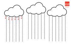 regen schrijfpatroon