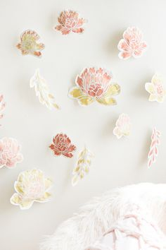 DIY-Paper-Flower-Back-Drop Coral, Peach and Orange