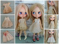 coffee or tea? | OOAK shabby Blythe outfits by Marinart.etsy.com