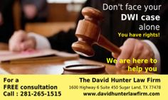 Website : http://www.davidhunterlawfirm.com/law-firm-overview/  David Hunter Law Firm – DWI lawyer in Houston Free DWI Consultation at 281-265-1515 with an Aggressive and Affordable Houston DWI Lawyer focusing on Houston DWI cases in TX