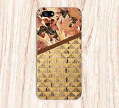 Fallen Leaves x Gold Triangles Wood Design Case for by CaseEscape