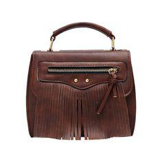 Brown Zipper Tassel PU Bag (€11) ❤ liked on Polyvore featuring bags, handbags, zipper bag, zipper purse, brown handbags, brown bag и zip purse