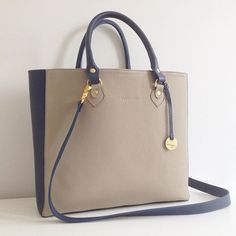 Naomi shopper bag  #nonou #bags #naomi #torebka #leather #skóra #granat #oliwka #big #shopper #beauty #woman #kobieta #followme #torba #blue #beige #love #shopping #design, #create
