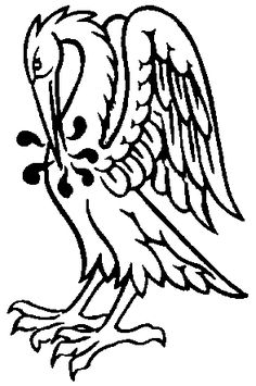 Piety Symbol Pelican-vulning-itself-badge-